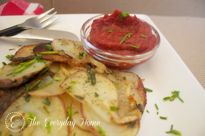 Crispy, Iron-Skillet Potatoes and Onions by The Everyday Home