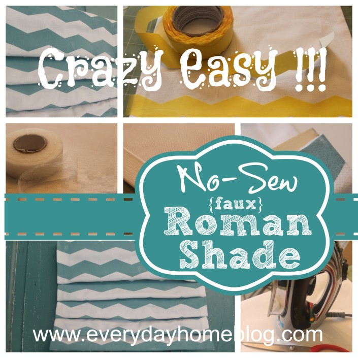No-Sew Faux Roman Shade at The Everyday Home