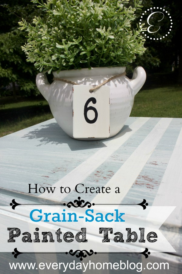 How to Create a Grain-Sack Painted Table by The Everyday Home