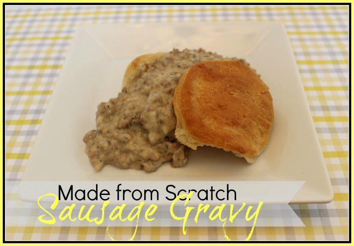 Homemade Sausage Gravy and Biscuits by The Everyday Home