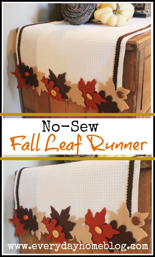 No-Sew Fall Leaf Runner by The Everyday Home