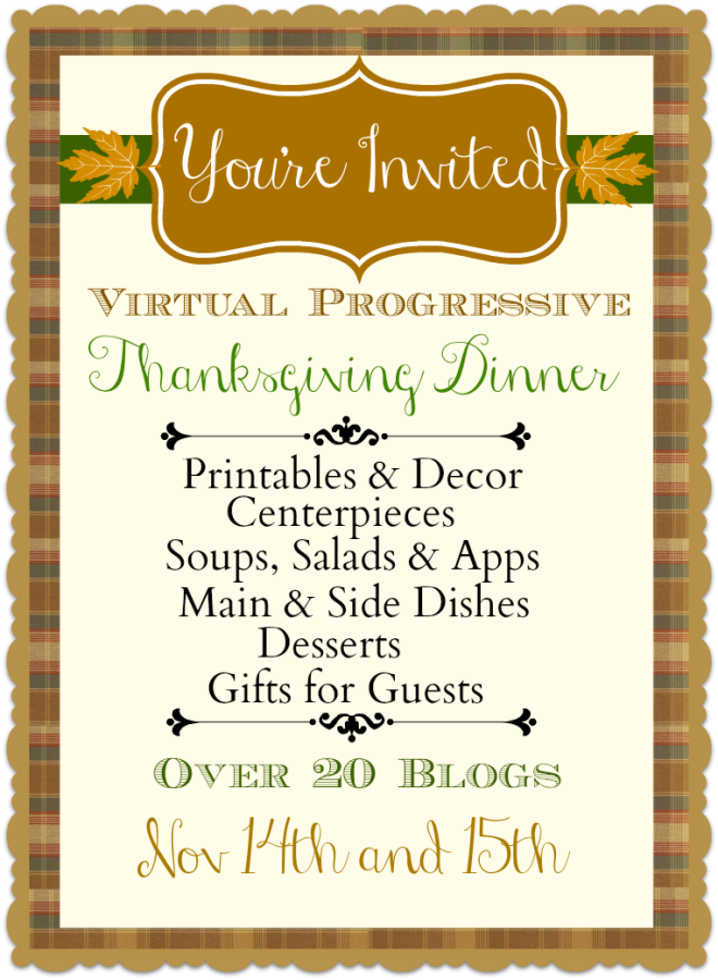 Progressive Dinner Party Ideas Part - 23: ThanksgivingDinnerButton