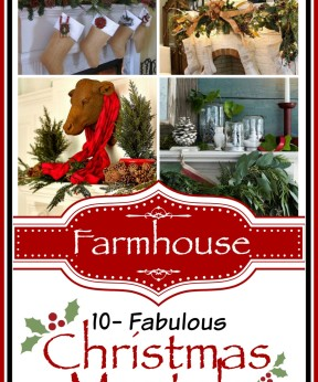 10 Gorgeous Farmhouse Style Christmas Mantels