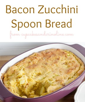 Bacon Zucchini Spoon Bread