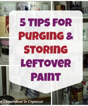 Organizing Leftover Paint