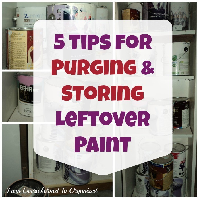 5 tips for purging & storign leftover paint