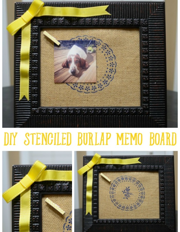 How to Make a DIY Stenciled Memo Board {Guest Post} by Sweet Tea and Saving Grace / featured at The Everyday Home / www.everydayhomeblog.com