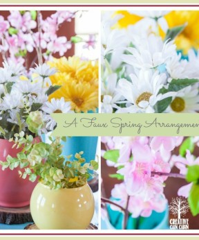 Faux Spring Arrangement