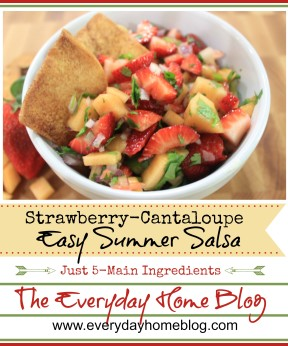 Strawberry-Cantaloupe Salsa