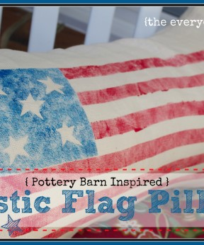 PB-Inspired Flag Pillow