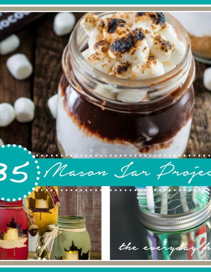 35 Mason Jar Projects - The Everyday Home - www.everydayhomeblog.com