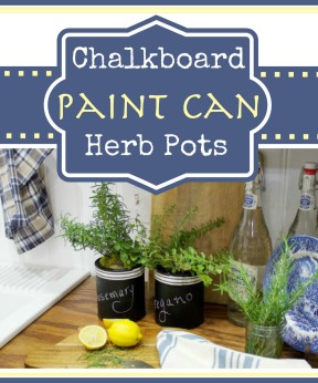 Chalkboard Paint Can Herb Pots