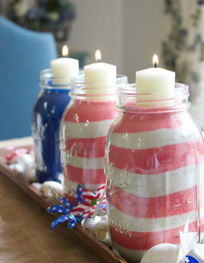 Patriotic July 4th Jars  The Everyday Home  www.everydayhomeblog.com