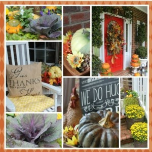 A Southern Front Porch Dressed for Fall