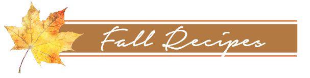 Fall Recipes Button